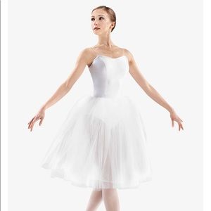 Adult White Ballet 24 inch Soft Tulle Tutu